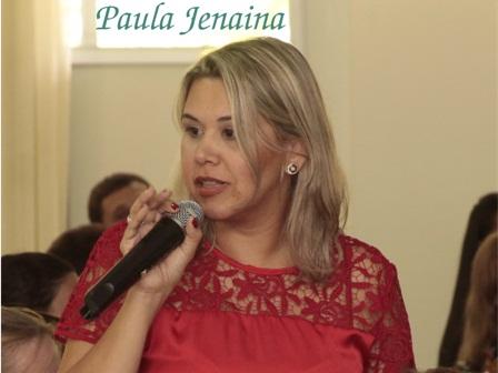 Professora Paula Jenaina ministra palestra em Baixo Guandu dia 22 de abril