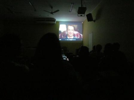 Alunos assistem a filme na Semana de Direito da PIO XII