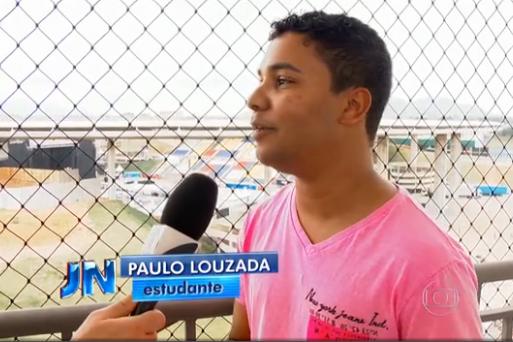 Aluno da PIO XII concede entrevista a Jornal Nacional