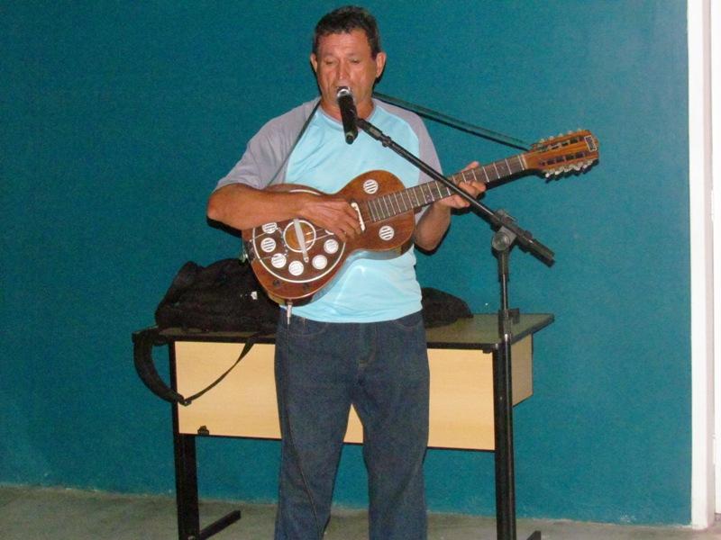 O Repentista Pedro Ceará animou os acadêmicos com suas rimas