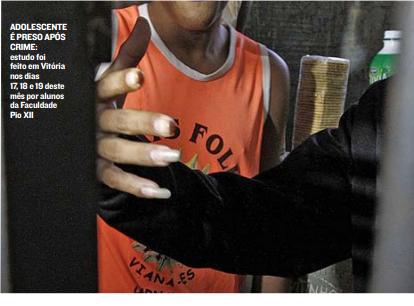 Pesquisa da PIO XII aponta: moradores de Vitória aprovam mais punição para menores infratores