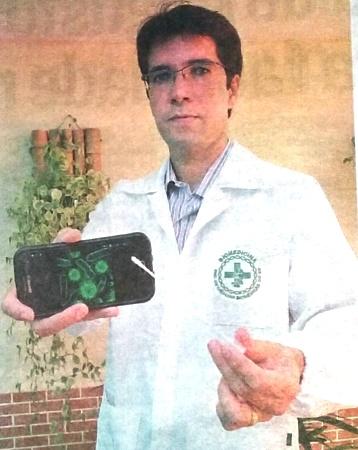 Coordenador da PIO XII concede entrevista sobre bactérias em celular