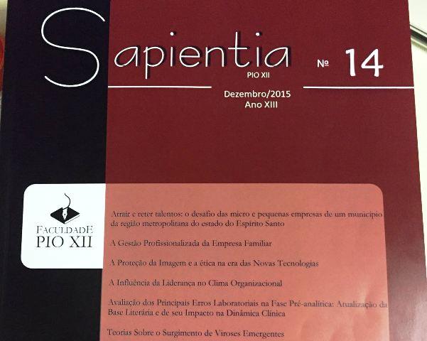 Revista Sapienta nº 14 será lançada nesta quinta-feira