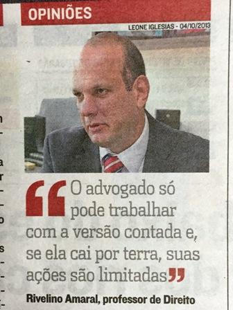 Professor contribui em matéria do jornal A Tribuna