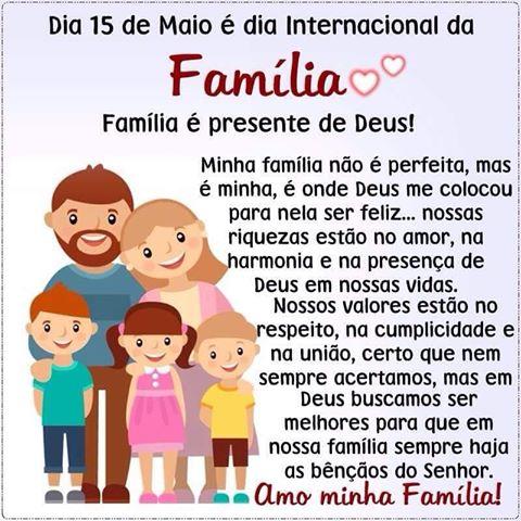 Um feliz dia a todas as famílias