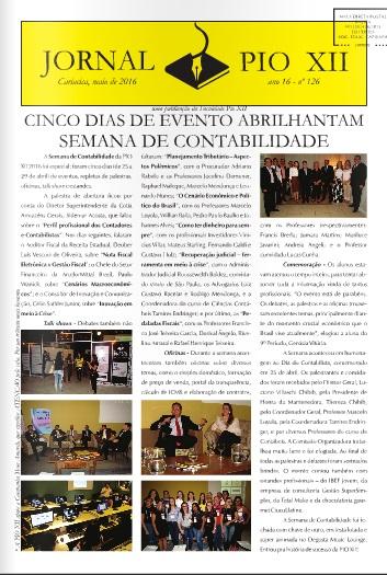 Jornal PIO XII e Informativo de Biomedicina do mês de Maio estão na internet