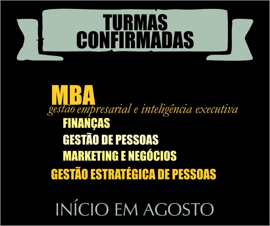 Novas turmas de MBA já têm data para começar! Uma começa nesta semana