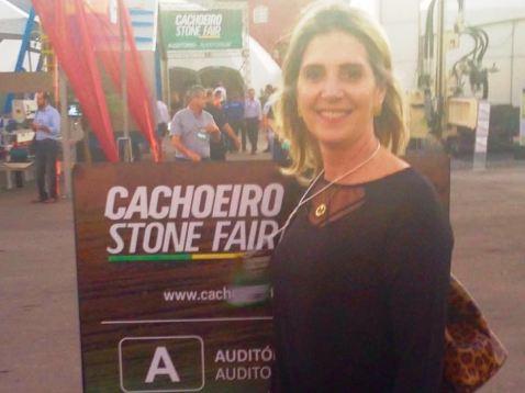 Coordenadora de Logística e Comércio Exterior visita Cachoeiro Stone Fair