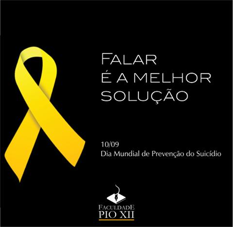 PIO XII apoia campanha Setembro Amarelo, de prevenção ao suicídio