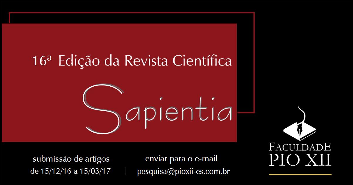 Últimos dias para submissão de artigos para Sapientia