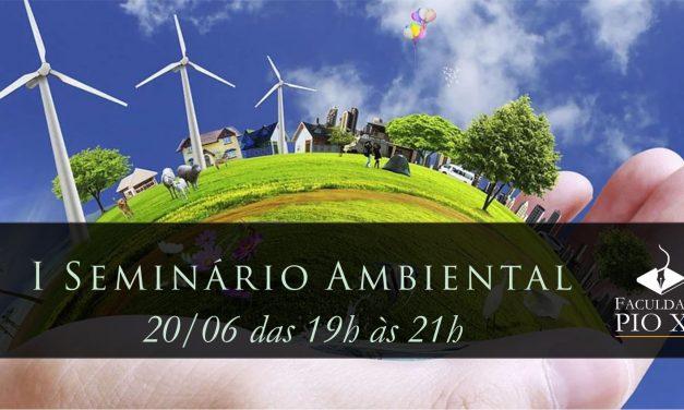 Inscrições abertas para I Seminário Ambiental