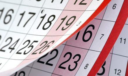Calendários para prova de reposição