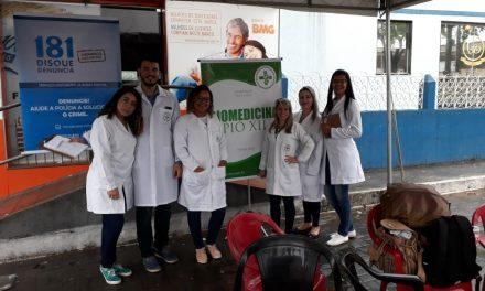 Biomedicina em ação no projeto comando nos bairros