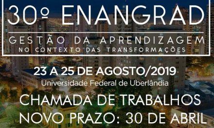 Prazo de inscrição no ENANGRAD/2019 é prolongado