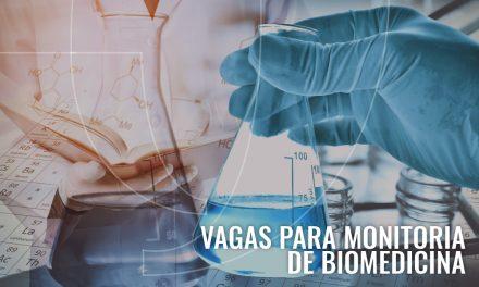 SELEÇÃO DE MONITORES – Biomedicina
