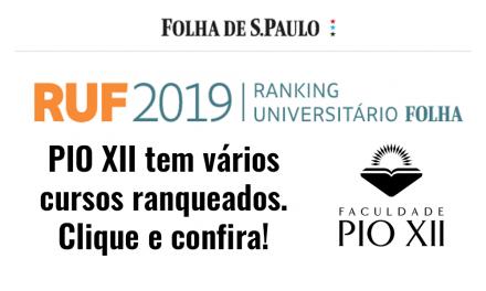 RUF 2019 – Cursos da PIO XII são destaque. Confira!