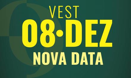 ATENÇÃO – Vest PIO XII tem nova data – 08/12