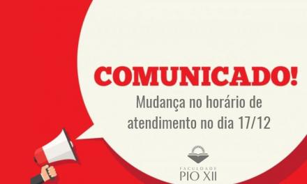 Faculdade PIO XII terá atendimento das 17 às 21h30 no dia 17/12