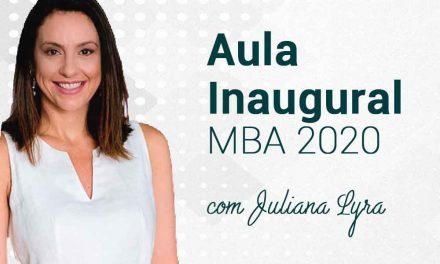 Aula Inaugural do MBA contará com apresentadora da TV RECORD. Confira!