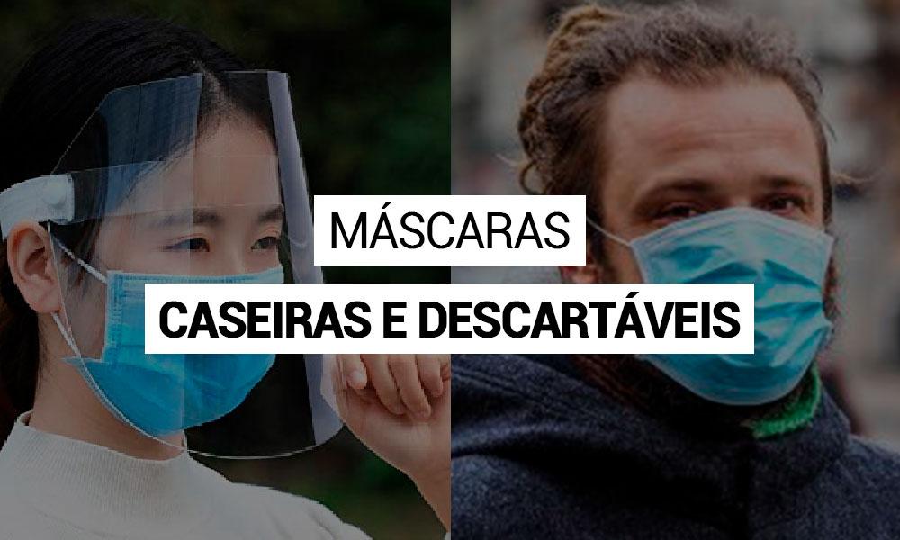 Máscaras caseiras podem ser alternativas para futuras determinações ao combate a COVID-19