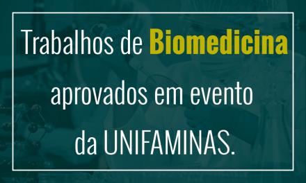 Estudantes de biomedicina têm trabalhos publicados em evento da UNIFAMINAS