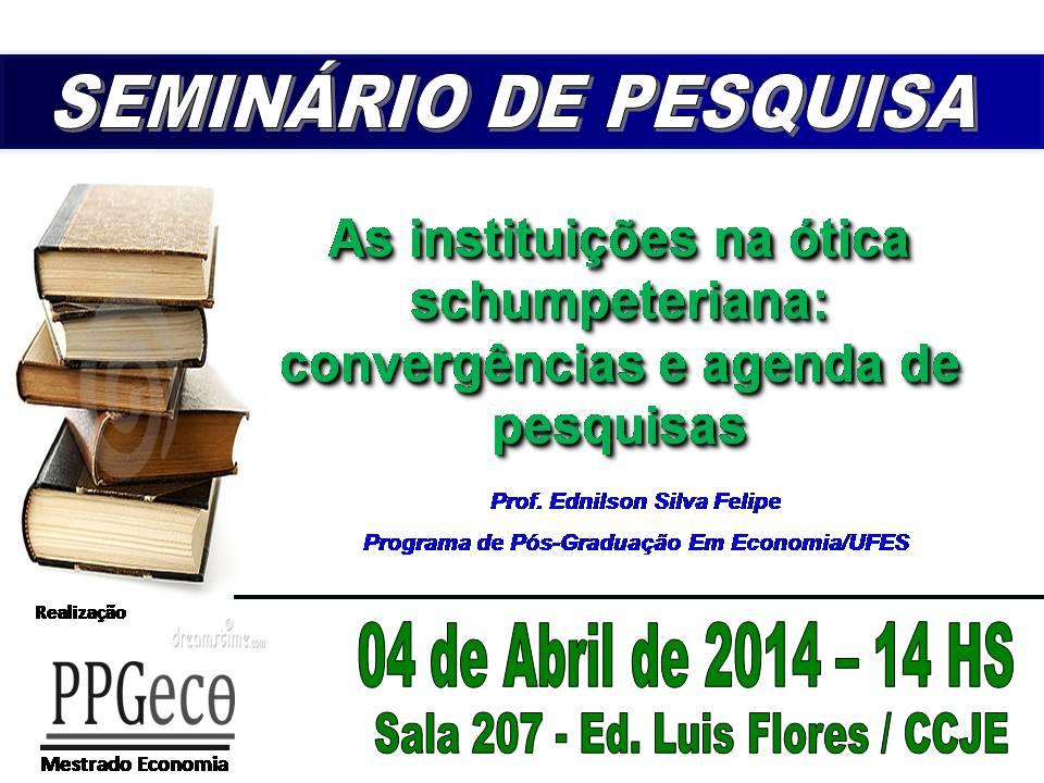 Seminário de Pesquisa e Dissertação na Ufes nesta sexta-feira