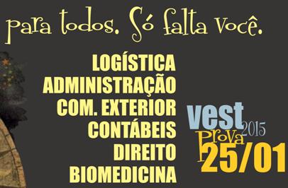 Inscrições para o Vest PIO XII se encerram nesta sexta-feira