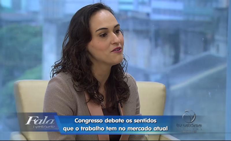 Professora Neidy Christo participa do programa Fala ES da TV Vitória