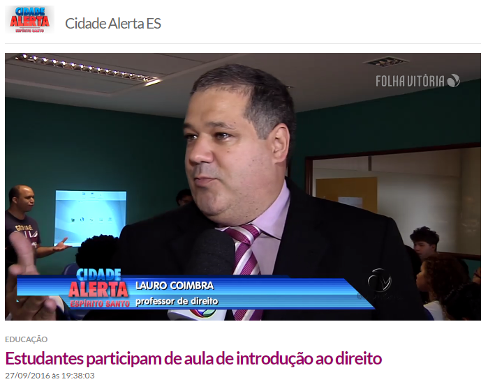 Professores Merim e Lauro são entrevistados em reportagem da TV Vitória