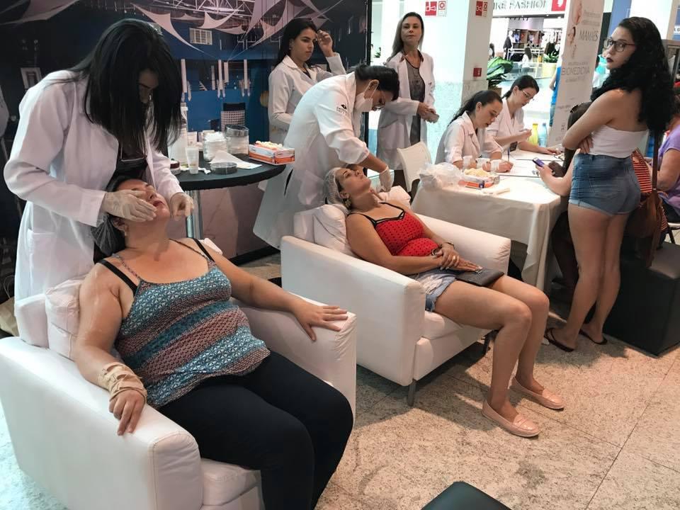 Mais de cem procedimentos estéticos em evento no Shopping
