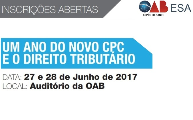 OAB promove seminário de Direito Tributário e Novo CPC