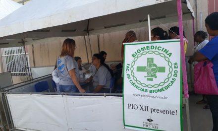 Biomedicina realiza nova ação em parceria com Batalhão