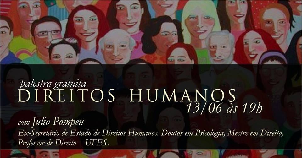Palestra gratuita com ex-Secretário de Direitos Humanos