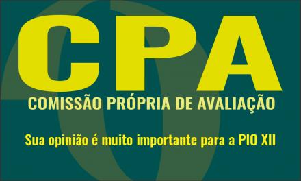 Vem ai mais uma avaliação promovida pela CPA. Participe!