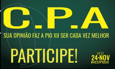 Já está no ar a Avaliação Institucional Interna 2019 promovida pelas CPAs da PIO XII!