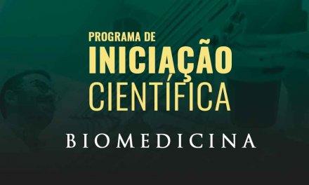 Inscrições abertas: Iniciação Científica de Biomedicina